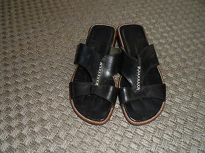 ka diardi black leather sandals size 6 great condition