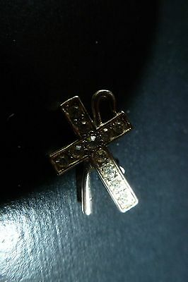 Vintage Cross with Staf Lapel Pin