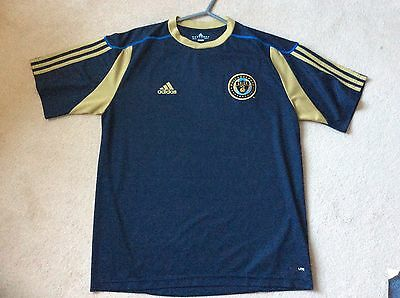 Mens Football Shirt - Philadelphia Union -  Size Large - Navy And Gold