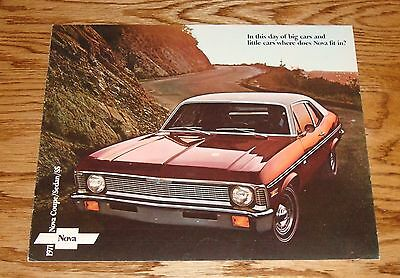 Original 1971 Chevrolet Nova Sales Brochure 71 Chevy