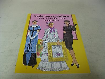 Collectible 1989 Notable American Women Full Color  Paper Doll Uncut