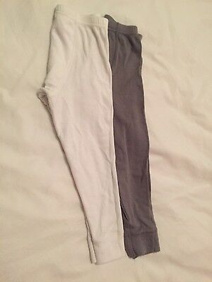 George Thermal Long-Johns 2 pack grey & white 4-5