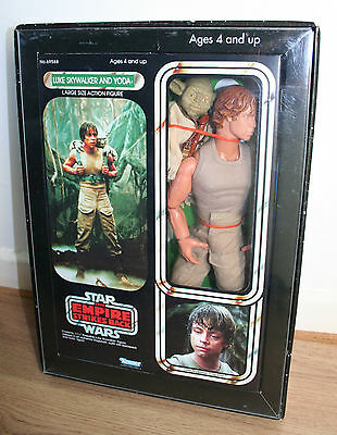 "Star Wars 12"" Luke & Yoda Kenner Empire Strikes Back Vintage Style Double Boxed!"