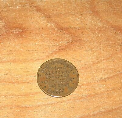 1908 Copper 25 Cent Check for $5.00 Purchase Montanus The Shoe Man Sidney Ohio