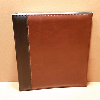 Pinnacle Magnetic Paged Faux Leather Ring Bound Photo Album, 8x10