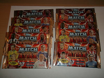 8x Match  Attax  PREMIER LEAGUE 2012/2013 SEALED PACKS Trading  Cards