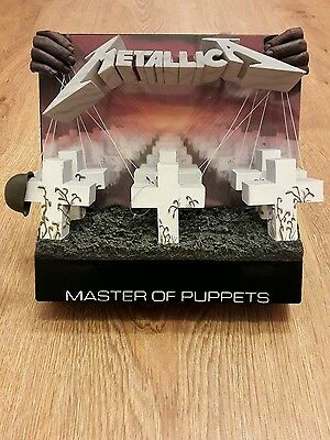 Metallica Master of Puppets - 3D Album Cover Wall Hanger or Free Standing. Rare.