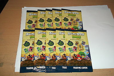 ANGRY BIRD SPACE Trading Cards 10 Packs SEALED