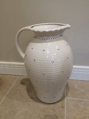 Large White & Blue Jug