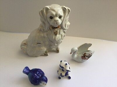 Large collection of ceramic animals
