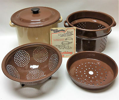 Vintage The Everything Pot - Classic Coordinates 1979 All In One 8 Qt Pot - USA