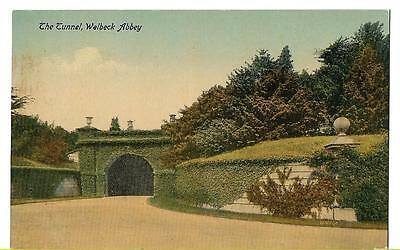 EARLY VALENTINES POSTCARD - THE TUNNEL, WELBECK ABBEY, NOTTINGHAMSHIRE - c1917
