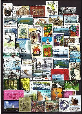 Iceland Lot of stamps from 2000-2015. Used.