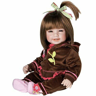"""Adora Toddler Workout Chic 20"""" Girl Weighted Doll Gift Set, Huggable, Cuddly"""