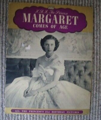 Princess Margaret comes of age-inc 21st birthday pictures -Pitkin booklet-1951