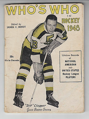"Who's Who In Hockey 1948 ""Dit"" Clapper Boston"