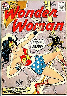 Wonder Woman #92 1957-DC-famous clown cover issue-VG