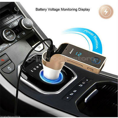 LCD Bluetooth Car Kit MP3 Player FM Transmitter USB Charger For iPhone Samsung