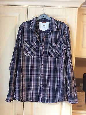 The Manor Mens Shirt Size Large Colour Grey Check