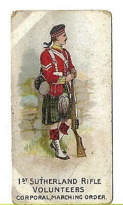 W.H. & J. WOODS - TYPES OF VOLUNTEERS AND YEOMANRY - 1st SUTHERLAND RIFLE