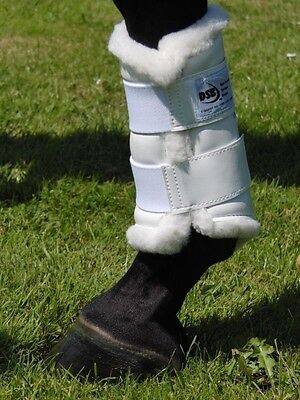 DSB Dressage Sport Fleece Boots -Black or White - Small, Medium, Large & X-Large