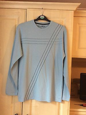 Matalan Mens Long Sleeve Top Size Small 37 Inches Colour Blue New
