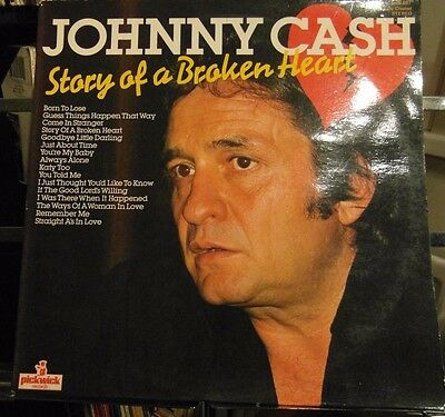 Johnny Cash - Story Of A Broken Heart - Ex / Ex+ Vinyl Lp