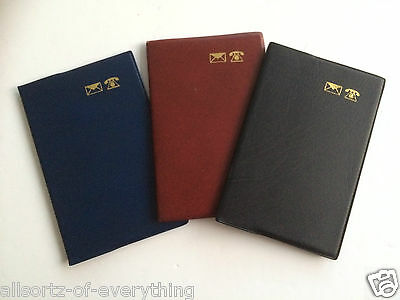 A-Z Indexed pocket Leatherette Telephone Padded Address Book Cream Pages