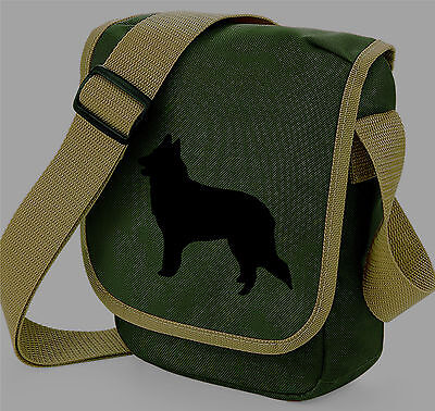 Belgian Shepherd Sheepdog Bag Silhouette Messenger Shoulder Bags Handbag Gift