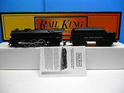 Mth Rail King 30-1025 Ny Central 4-6-4 Hudson Steam Engine And Tender And Box.