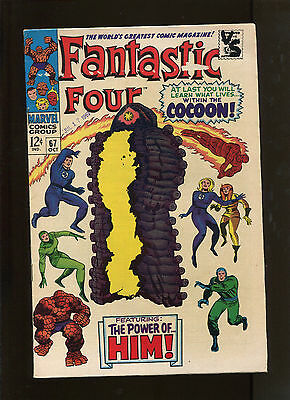 Fantastic Four #67 (6.0) Writing And Tape Pull!