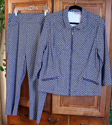 Darling Chico's Outfit Jacket & Pants Sizes 2.5 & 3  Exec. Condition!!!