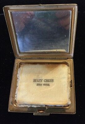 Vintage Mary Chess New York Makeup Compact -