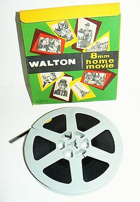 """Walton 8Mm Home Movie  Film. Laurel And Hardy In Night Owl 5"""" Reel  A.314"""