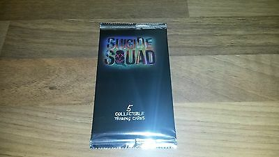 Suicide Squad Collectable Trading Cards - Single Sealed Pack of 5