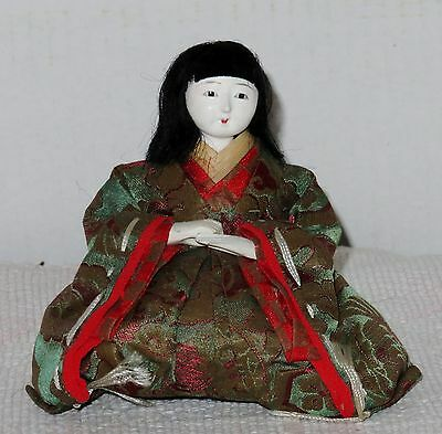 "Antique Japanese Seated 4.5"" Musician Chorus Hina Doll Glue BH3#AD4161415.8"