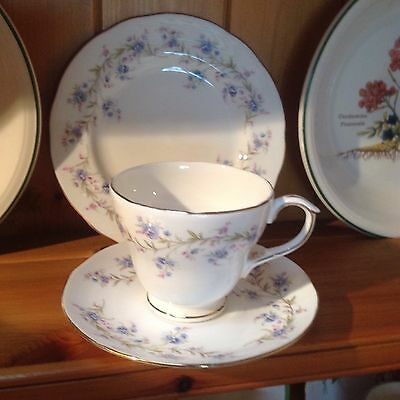 Vintage Beautiful Floral China Duchess Tranquillity  Trio .plate Cup Saucer