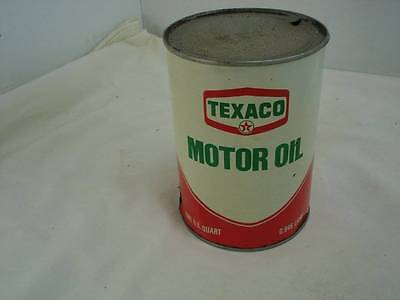 NOS Vintage Texaco Motor Oil Metal Steel Can One Quart SAE 10 Original #5