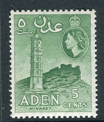 ADEN;  1953 early QEII issue fine Mint hinged 5c. value