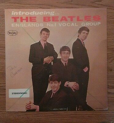"""authentic converted cover ver. 2 STEREO The Beatles """"Introducing The Beatles"""""""