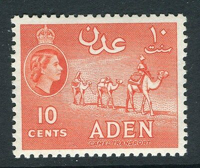 ADEN;  1953 early QEII issue fine Mint hinged 10c. value