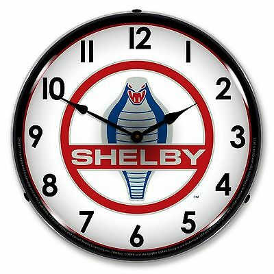 Shelby Logo Lighted Wall Clock