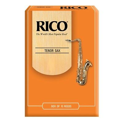 Rico By D'Addario Unfiled Tenor Saxophone Reeds - Box Of 10, Strengths 1.5 - 4