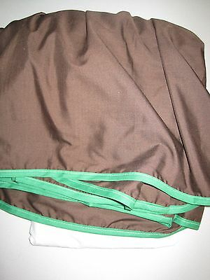 Baby Doll Solid Reversible Crib Skirt/ Dust Ruffle, Brown/Green