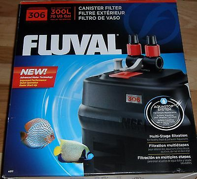 Brand New Fluval 306 A212 Canister Filter Aquastop System Free Shipping