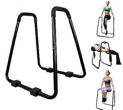 Dip Station Heavy Duty Stand Body Press Pull Up Bars Tricep Pushup Exercise Gym