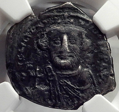 CONSTANS II Pagonatos Silver Hexagram Cross Ancient Byzantine Coin NGC VF i58606