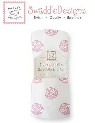 SwaddleDesigns ROSE Marquisette Swaddle Blanket softer than muslin ~NEW~
