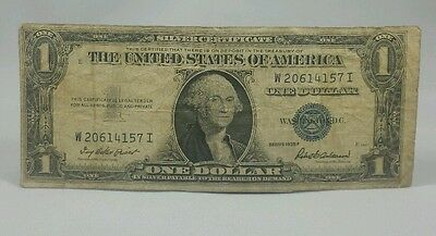 1935 One Dollar Silver Certificate Blue Seal Note - $1 Bill Well Circulated