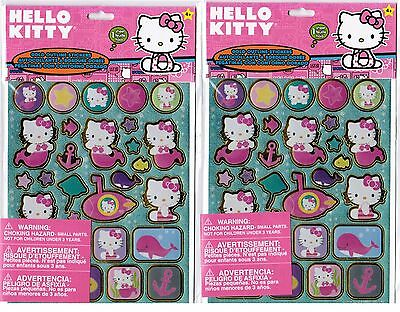 SANRIO Hello Kitty GOLD Outline MERMAID Whale Anchor SUB Stickers 2 NEW PACKS!
